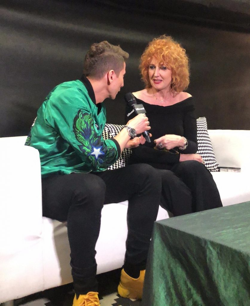 Fiorella Mannoia ai microfoni di Billboard Italia durante i Wind Music Awards
