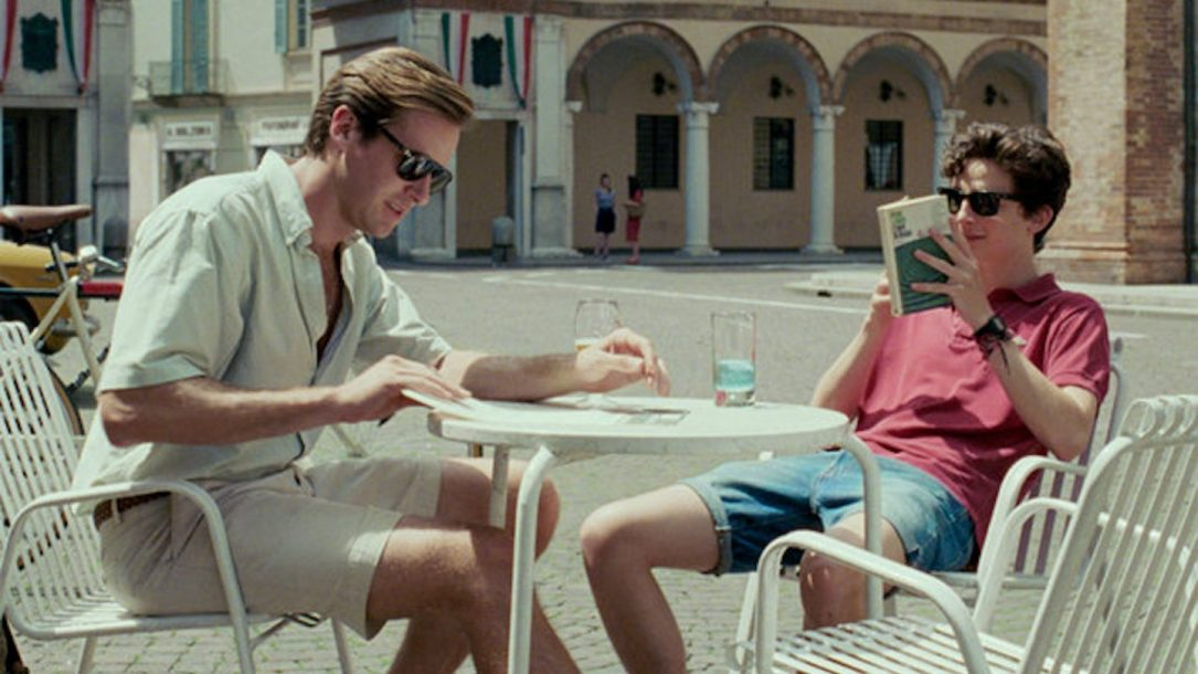 "Armie Hammer (Oliver) e Timothée Chalamet (Elio) in ""Call Me By Your Name"""