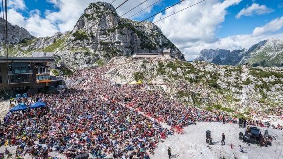 """Il Rifugio Gilberti durante il """"No Borders Music Festival"""""""