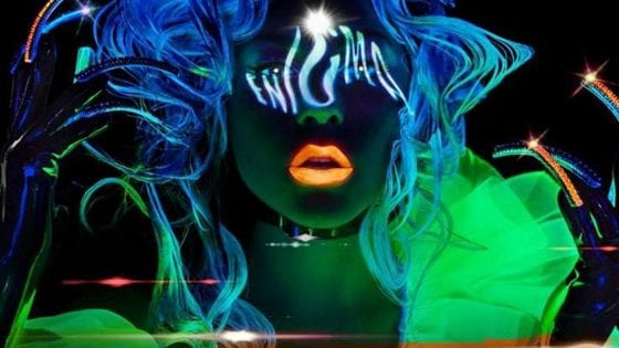 "Lady Gaga: un particolare della locandina della sua residency a Las Vegas con ""Enigma"""