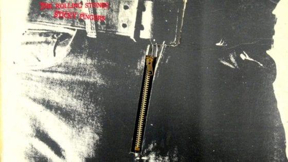 """Un particolare della cover del vinile di """"Sticky Fingers"""" dei Rolling Stones: anche questo è stato tra i protagonisti del programma Vinylove con il nostro Tommaso Toma"""