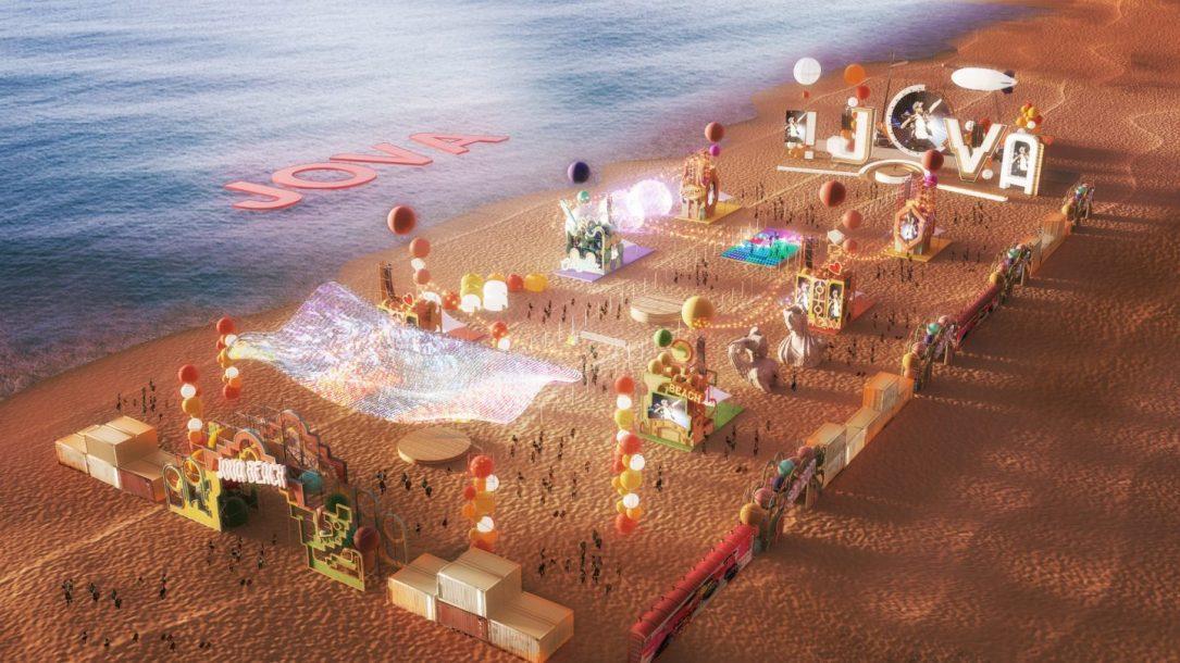 """Il rendering del """"Jova Beach Party"""""""